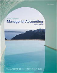 Fundamental Managerial Accounting Concepts 5th edition 9780073527024 0073527025