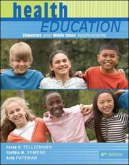 Health Education: Elementary and Middle School Applications 6th Edition 9780073380803 0073380806
