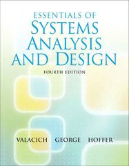 Essentials of System Analysis and Design 4th edition 9780136084969 0136084966