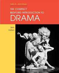 The Compact Bedford Introduction to Drama 6th edition 9780312474898 031247489X