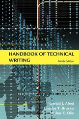Handbook of Technical Writing 9th edition 9780312477073 0312477074