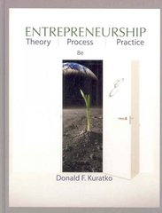 Entrepreneurship 8th edition 9780324590913 0324590911