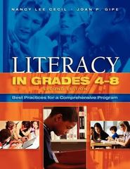 Literacy in Grades 4-8 2nd Edition 9781890871857 1890871850