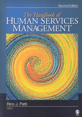 The Handbook of Human Services Management 2nd edition 9781412952910 1412952913