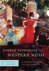 Norton Anthology of Western Music 6th edition 9780393931266 0393931269