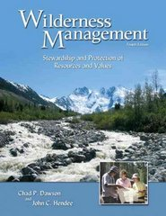 Wilderness Management 4th Edition 9781555916824 1555916821