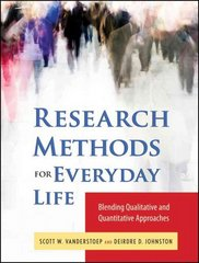 Research Methods for Everyday Life 1st Edition 9780470343531 0470343532