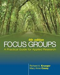 Focus Groups 4th edition 9781412969475 1412969476