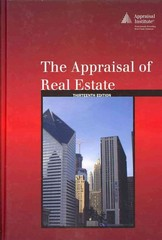 The Appraisal of Real Estate 13th edition 9780922154982 0922154988