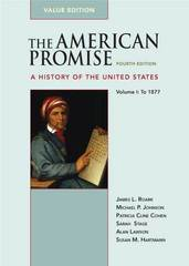 The American Promise Value Edition, Volume I: To 1877 4th edition 9780312489465 0312489463