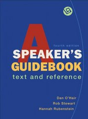 A Speaker's Guidebook 4th edition 9780312472825 031247282X