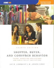 Shopper, Buyer, and Consumer Behavior 4th edition 9781426630507 1426630506
