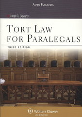 Tort Law for Paralegals, Third Edition 3rd Edition 9780735578739 0735578737