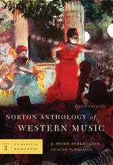 Norton Anthology of Western Music 6th edition 9780393931273 0393931277