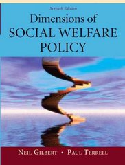 Dimensions of Social Welfare Policy 7th edition 9780205625741 0205625746