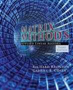 Student Solutions Manual, Matrix Methods 3rd Edition 9780080952178 0080952178