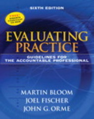 Evaluating Practice 6th Edition 9780205612017 0205612016