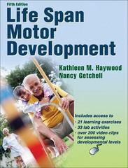 Life Span Motor Development 5th Edition 9780736075527 0736075526