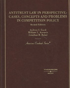 Antitrust Law in Perspective 2nd Edition 9780314162618 0314162615
