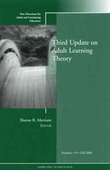 Third Update on Adult Learning Theory 1st Edition 9780470643419 0470643412