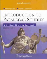 Introduction to Paralegal Studies 4th Edition 9780735578647 0735578648