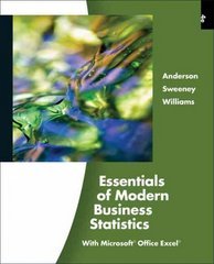 Essentials of Modern Business Statistics (with Online Material Printed Access Card) 4th edition 9780324783513 0324783515