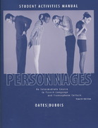 Personnages 4e Activities Manual & Lab CDs 4th Edition 9780470432181 0470432187