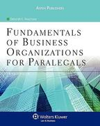 Fundamentals of Business Organizations for Paralegals, Third Edition 3rd Edition 9780735579125 0735579121