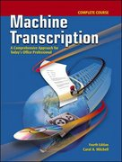 Machine Transcription Complete Course w/ student CD + Audio CD MP3 Format 4th Edition 9780077290474 007729047X