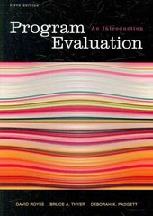 Program Evaluation 5th Edition 9780495601661 0495601667
