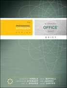 Microsoft Office 2007 Brief: A Professional Approach 1st edition 9780073519265 007351926X