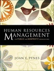 Human Resources Management for Public and Nonprofit Organizations 3rd Edition 9780470331859 0470331852