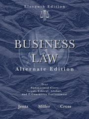 Business Law, Alternate Edition 11th edition 9780324596168 0324596162