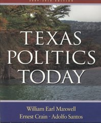 Texas Politics Today 2009-2010 14th edition 9780495570257 0495570257