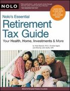 Nolo's Essential Retirement Tax Guide 1st edition 9781413309126 1413309127