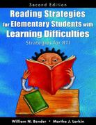 Reading Strategies for Elementary Students With Learning Difficulties 2nd Edition 9781412960694 141296069X