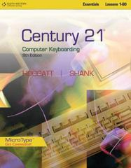 Century 21 Computer Keyboarding, Lessons 1-80 9th edition 9780538449106 0538449101