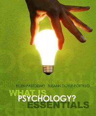 What is Psychology? Essentials 1st edition 9780495596738 0495596736