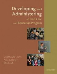 Developing and Administering a Child Care and Education Program 7th Edition 9781428361379 1428361375