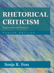 Rhetorical Criticism 4th edition 9781577665861 1577665864