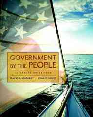Government by the People, Alternate Edition, 2009 Edition 23rd edition 9780136050407 0136050409