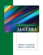 Intermediate Algebra 1st edition 9781111780715 1111780714