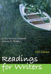 Readings for Writers 13th Edition 9781428231283 1428231285