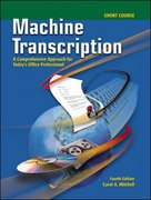 Machine Transcription Short Course w/ student CD + Audio CD MP3 Format 4th Edition 9780077290481 0077290488