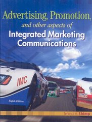 Advertising Promotion and Other Aspects of Integrated Marketing Communications 8th edition 9780324593600 0324593600