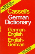 Cassell's German Dictionary 1st edition 9780025229303 0025229303