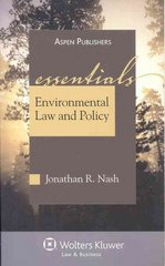Environmental Law and Policy 7th Edition 9780735579668 0735579660