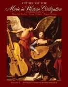 Anthology for Music in Western Civilization, Volume I 1st edition 9780495572749 0495572748