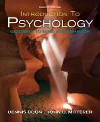 Introduction to Psychology 12th edition 9781111782535 1111782539