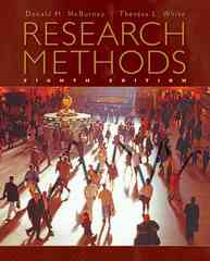 Research Methods 8th edition 9780495602194 0495602191